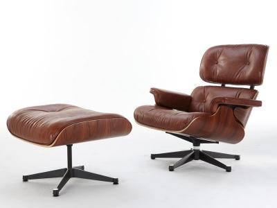 fauteuil lounge eames bois de rose. Black Bedroom Furniture Sets. Home Design Ideas