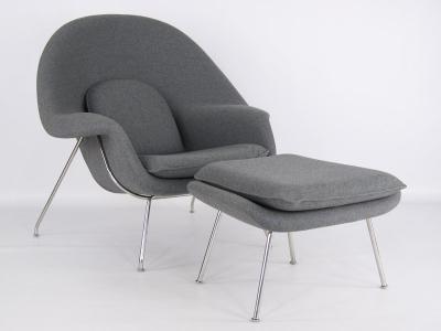 Image du fauteuil design Fauteuil Womb - Gris