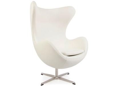 Image du fauteuil design Poltrona Egg AJ - Bianco