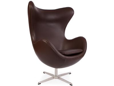 Image du fauteuil design Poltrona Egg AJ - Marron