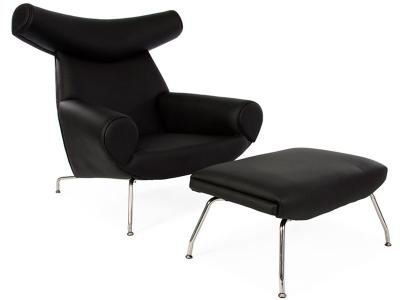 Image du fauteuil design Poltrona Ox Wegner - Nero