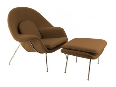 Image du fauteuil design Poltrona Womb - Marrone cioccolato