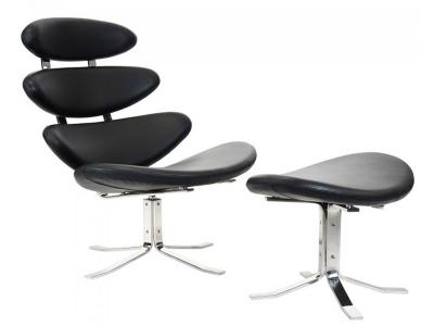 Image du fauteuil design Sedia Corona PK - Nero