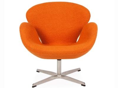 Sedia swan arne jacobsen arancione - Poltrone famose design ...