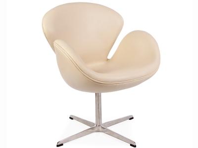Image du fauteuil design Sedia Swan Arne Jacobsen - Beige