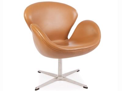 Image du fauteuil design Sedia Swan Arne Jacobsen - Caramello
