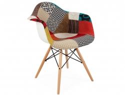 Chaise design DAR laine de rembourrage - Patchwork