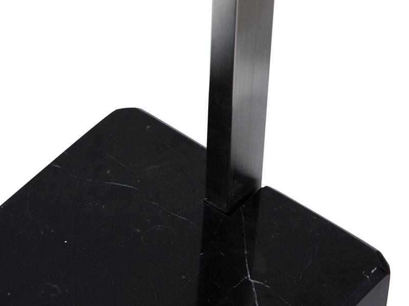 L mpara de pie arco m rmol negro for Marmol negro precio