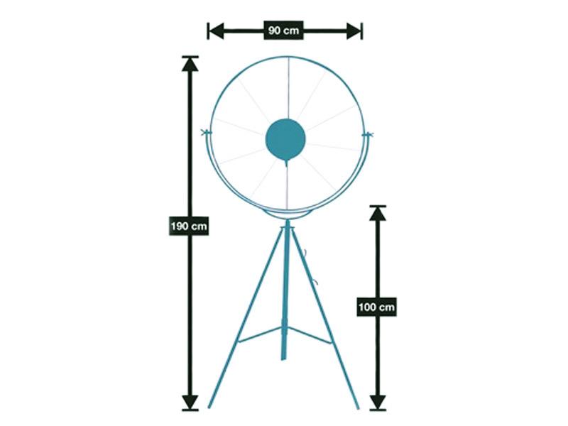 Image de la lampe design Lámpara de pie Fortuny - Negro