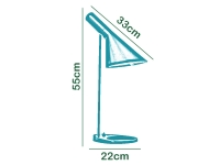 Image de la lampe design Lámpara de Mesa AJ Original - Negro
