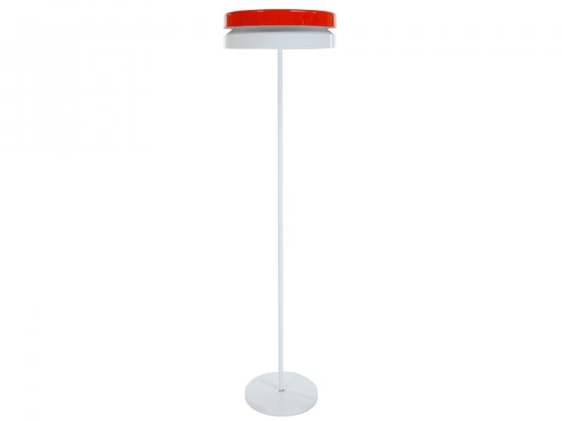 Lampe de sol toric rouge et blanc for Lampe de sol but