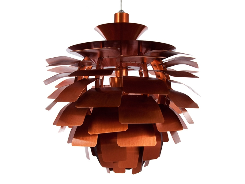 Image de la lampe design Suspension Artichoke S - Cuivre