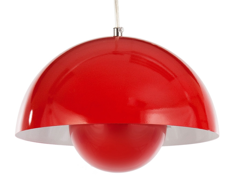 Suspension panton flowerpot rouge - Lampe suspension rouge ...