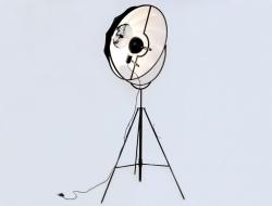 Image de la lampe design Lampadaire Fortuny - Noir