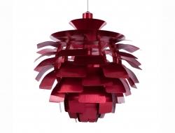 Image de la lampe design Suspension Artichoke S - Rouge