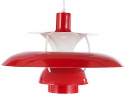Image de la lampe design Suspension PH5 - Rouge