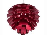 Image de la lampe design Suspension Artichoke M - Rouge