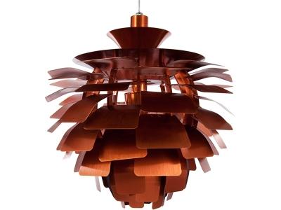 Image de la lampe design Suspension Artichoke M - Cuivre