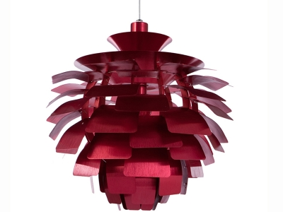 Image de la lampe design Suspension Artichoke M - Rouge