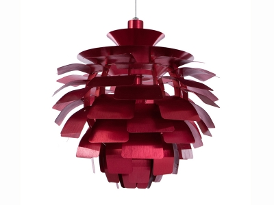 Image de la lampe design Suspension Artichoke S - Rouge