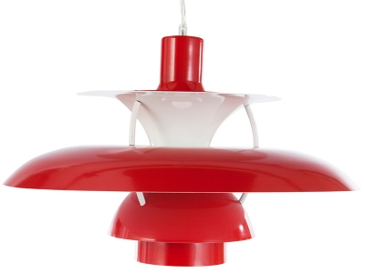 Image de la lampe design Suspension PH5 - Rouge