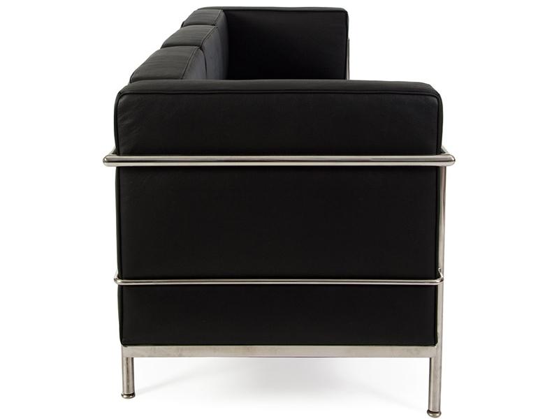 Image du mobilier design LC2 Le Corbusier 3 plazas Large - Negro