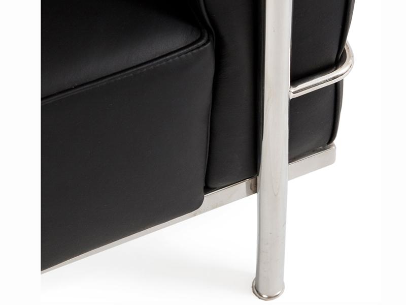 Image du mobilier design LC2 Le Corbusier 3 plazas - Negro