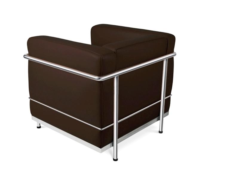 Image du mobilier design LC2 Sillón Le Corbusier - Marrón