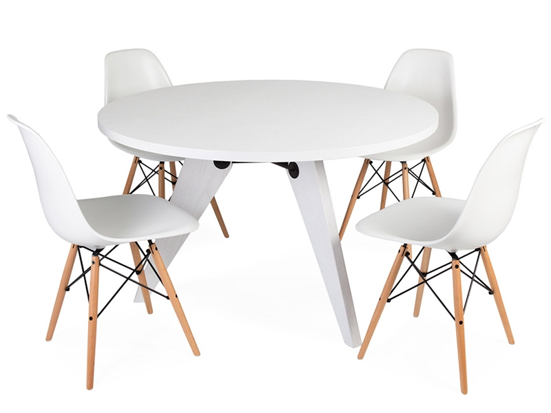 Mesa redonda prouv con 4 sillas - Mesa redonda con sillas ...