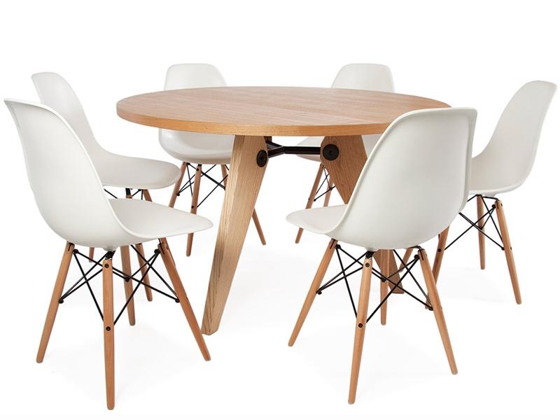 mesa redonda prouv con 6 sillas
