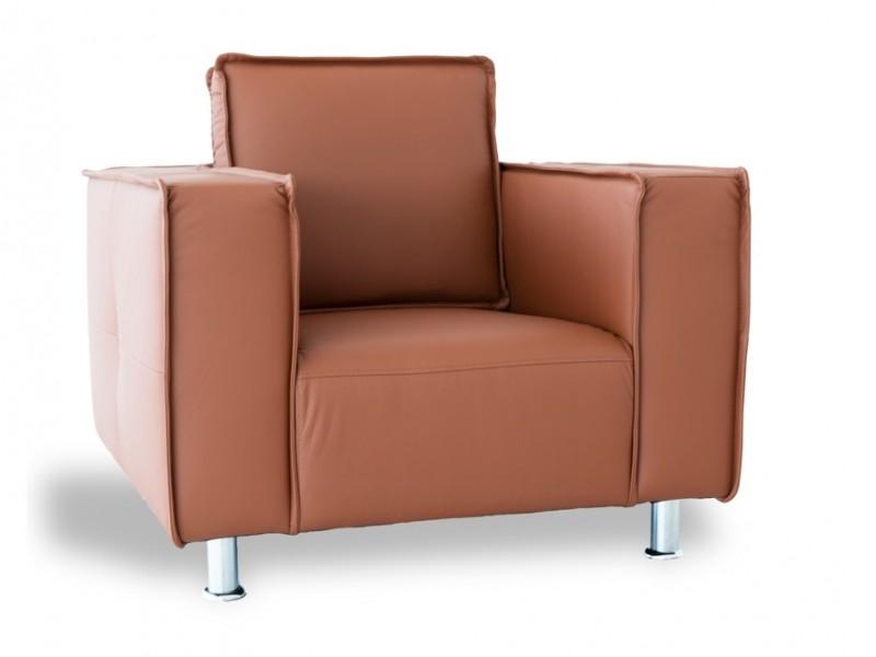 Image du mobilier design Sillón Poleric - piel caramelo