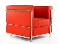 Image du mobilier design LC2 Sillón Le Corbusier - Rojo