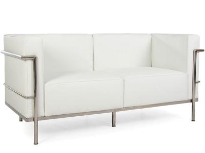 Image du mobilier design LC2 Le Corbusier 2 plazas Large-Blanco