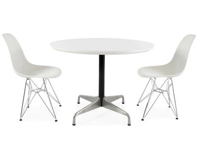 Image du mobilier design Mesa Eames Contract y 2 sillas