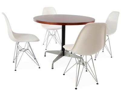 Image du mobilier design Mesa Eames Contract y 4 sillas