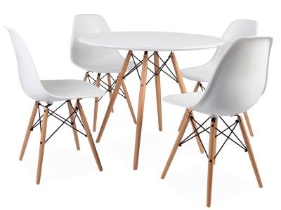 Image du mobilier design Mesa Eames WDW con 4 sillas