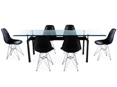 Image du mobilier design Mesa LC6 Le Corbusier y 6 sillas