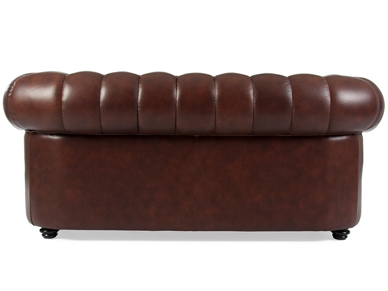 canap chesterfield 2 places marron. Black Bedroom Furniture Sets. Home Design Ideas