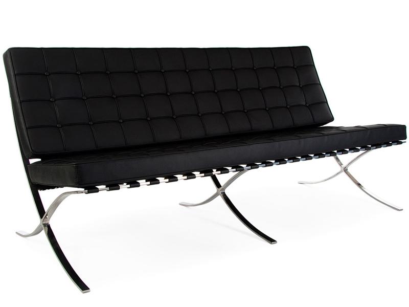 Image du mobilier design Divano Barcelona 3 posti - Nero