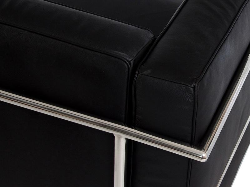 Image du mobilier design LC2 canapé d angle Le Corbusier - Noir