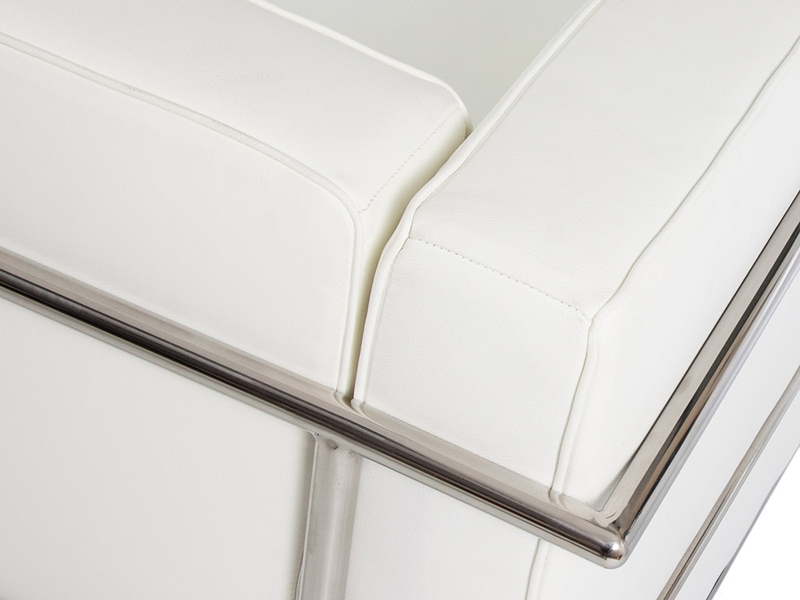 Image du mobilier design LC2 Fauteuil Large Le Corbusier-Blanc