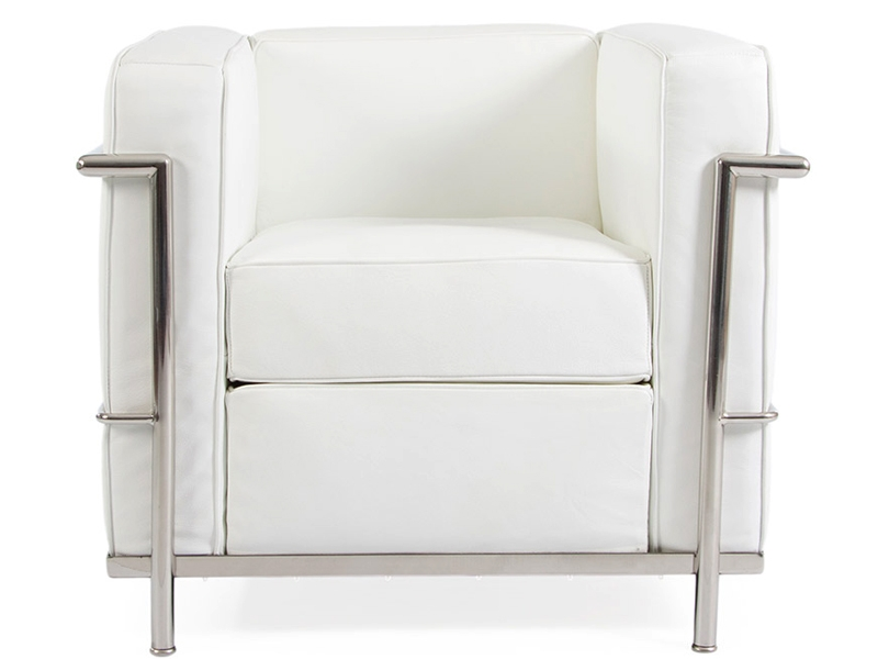 lc2 fauteuil le corbusier blanc. Black Bedroom Furniture Sets. Home Design Ideas