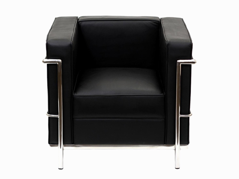 lc2 fauteuil le corbusier noir. Black Bedroom Furniture Sets. Home Design Ideas