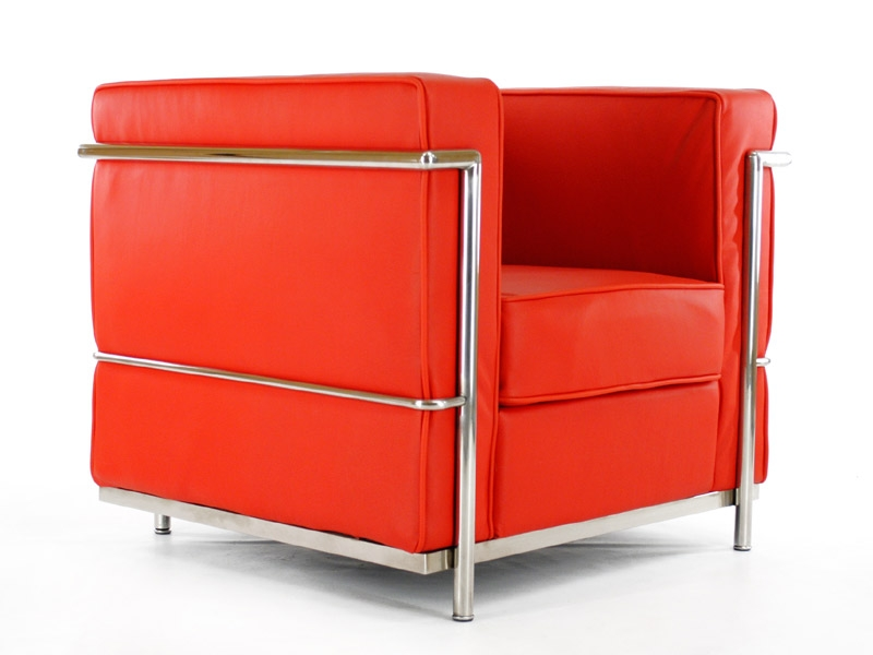 lc2 fauteuil le corbusier rouge. Black Bedroom Furniture Sets. Home Design Ideas