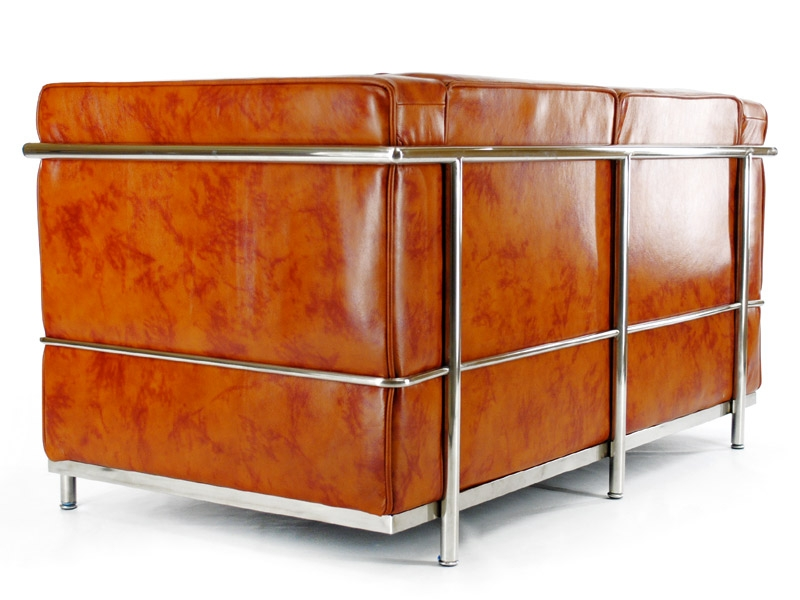 Image du mobilier design LC2 Le Corbusier 2 places - Caramel