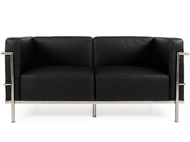 Image du mobilier design LC2 Le Corbusier 2 Places Large - Noir
