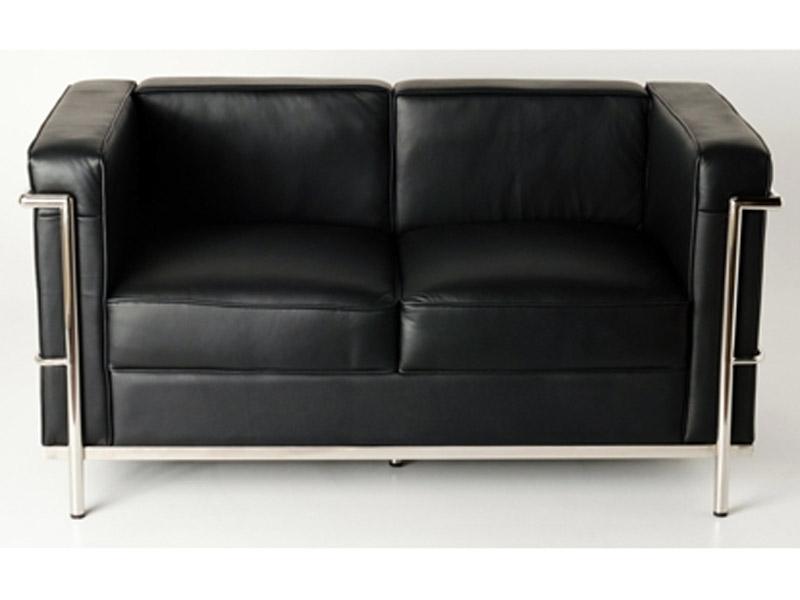 Lc2 le corbusier 2 posti nero - Le corbusier fauteuil lc2 ...