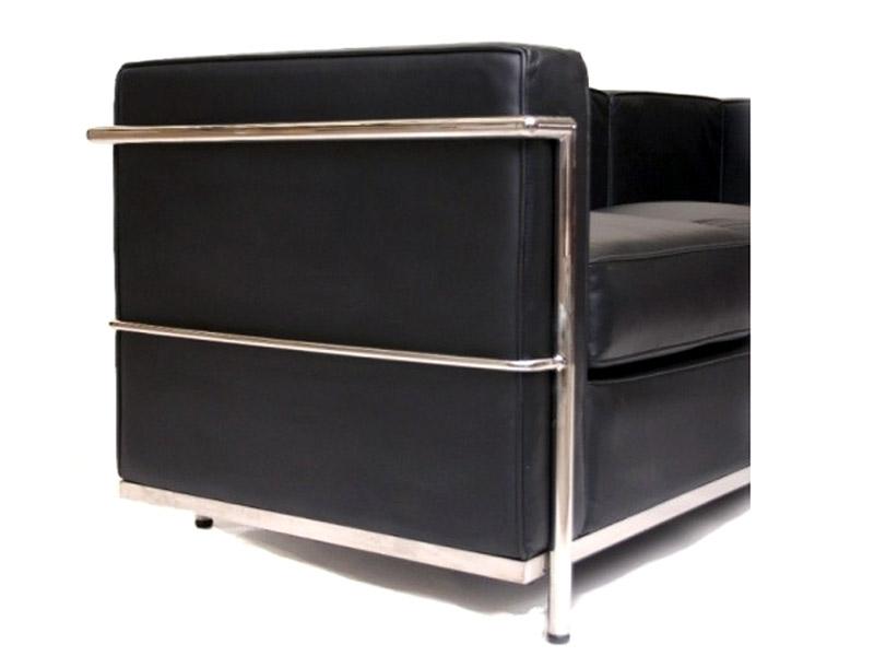 Image du mobilier design LC2 Le Corbusier  2 posti  - Nero