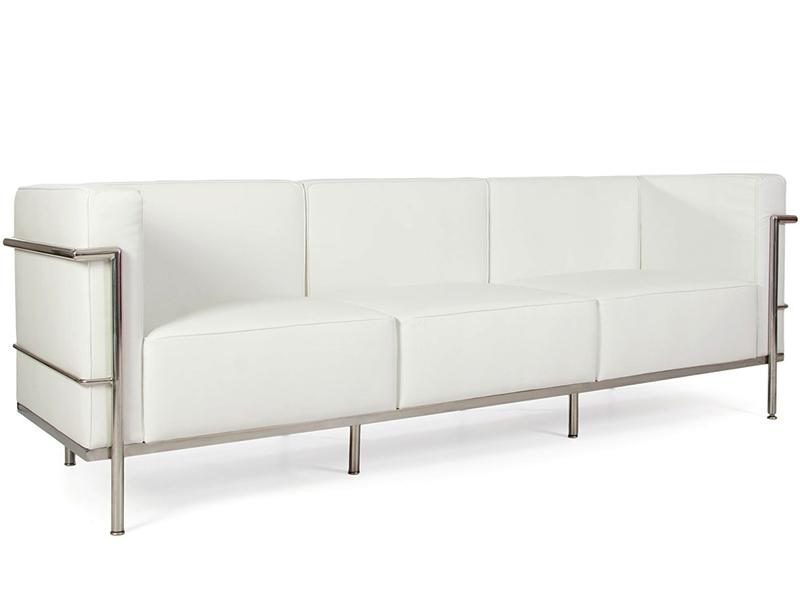 LC2 Le Corbusier 3 places Large Blanc