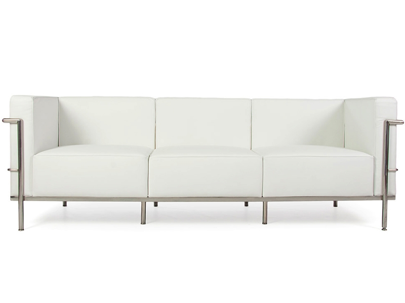 Image du mobilier design LC2 Le Corbusier 3 places Large - Blanc